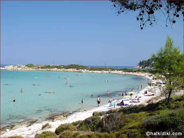Καρύδι beach, ευχαριστώ halkidiki.com